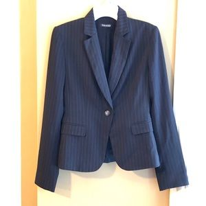 Tahari Classic Blazer One-Button Front Jacket XS
